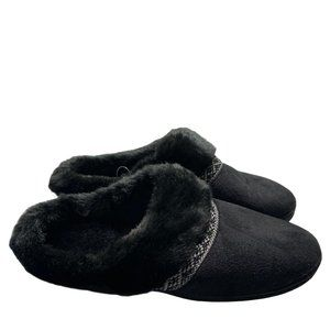 Isotoner Black Slippers Size 7.5-8